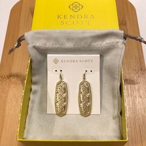 Kendra Scott Brenna Drop Gold Filagree Earrings
